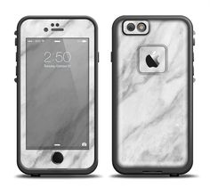 The White Marble Surface Apple iPhone 6/6s Plus LifeProof Fre Case Skin Set from DesignSkinz