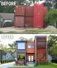 """Industrial Magazine on Instagram: """"Charming Container House in Royal Oak made of 7 Shipping Containers by @modecodevelopment . Follow 👉@industrial.magazine for more.…"""" Container House Plans, Container House Design, Container Architecture, Architecture Design, Shipping Container Homes, Shipping Containers, Usa Living, Container Conversions, Casas Containers"""