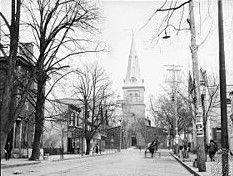 St. Anne's Church (seen from West St)... Annapolis, MD... circa 1910 Annapolis Maryland, City State, Back In The Day, Historical Photos, Baltimore, Past, America, Street, Pictures