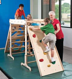 Rock Wall for Jungle Gym – Climbing Products - Kinderspiele Ideen Toddler Jungle Gym, Indoor Jungle Gym, Indoor Gym, Toddler Climbing, Indoor Climbing, Autistic Children, Children With Autism, Diy Baby Gym, Motor Planning