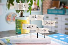 A cute way to dress up a baby shower, birthday party, or label food a any get togethers. Easy too!