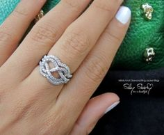 Infinity Knot Diamond Ring - The Original 14K Gold With Jacket Rings by sillyshiny