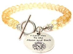 I Love You To The Moon And Back Crystal by MyTinyTemptations, $19.99