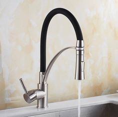 Kitchen Mixer Sink Faucet Brass Black with Chrome/Nick Torneira Tap Kitchen Faucets Hot Cold Deck Mounted Bath Mixer Tap – sinkfaucet Bath Mixer Taps, Black Kitchen Faucets, Pull Out Kitchen Faucet, Kitchen Mixer, Buy Kitchen, Kitchen Handles, Kitchen Decor, Kitchen Design, Cleaning Faucets