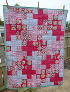 Jennie's Threads: Interesting variation on a Plus Quilt design. Quilting Projects, Quilting Designs, Sewing Projects, Quilt Design, Purple Quilts, Red And White Quilts, Plus Quilt, Cross Quilt, Baby Quilts