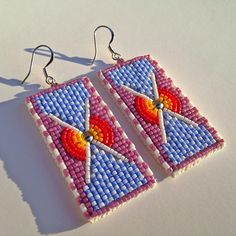 Fixed them! Available now... [Holding Out for a Hero] #drelynndesign #beadwork #jewelry #earrings #nativefashion