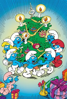 The Smurfs' Christmas Special A Christmas Story, Christmas Pictures, Christmas Themes, Christmas Cartoon Characters, Christmas Cartoons, Vintage Cartoons, Classic Cartoons, Smurf Village, The Grinch Movie