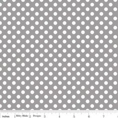 Small Dot in Gray KNIT designed by Riley Blake Designs for Riley Blake Designs as part of the Small Knit Dots collection