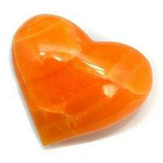 Orange Calcite Heart, The purifying energy of Calcite cleans out stored negative energy from a room or your body. My Funny Valentine, Crystal Shop, Crystal Ball, Crystals And Gemstones, Stones And Crystals, Jaune Orange, Orange You Glad, Oranges And Lemons, Coral