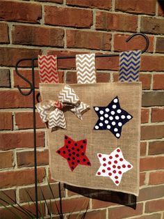 Fourth of July Burlap Garden Flag Yard Flag by LacyBellesBoutique, $20.00