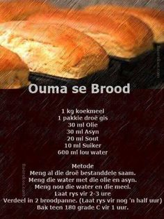Food recipes from all over the world. South African Dishes, South African Recipes, Kos, Ma Baker, African Dessert, Braai Recipes, Bread Bun, Easy Bread, Our Daily Bread
