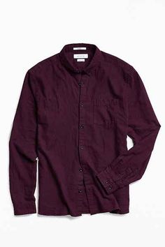 UO Stevens Cross-Dyed Button-Down Shirt
