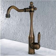 Antique Brass Single Handle Centerset Kitchen Faucet – FaucetSuperDeal.com