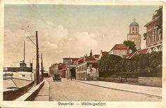 Deventer - Welle gezicht - oude auto - haven - boot 1930