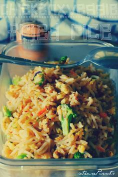 Fried Rice with Chicken+Vege 2 in 1 recipe