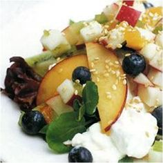 Summer Fruity Cottage Cheese Salad Recipe #stepbystep
