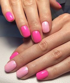 pink manicure #pink #manicure #nails #fashion #nailart #gelnails #instagood #nail #photooftheday #naildesign #pretty #gelpolish #nailswag #nailpolish #style #nailsoftheday #gel Black Manicure, Types Of Manicures, Nail Plate, How To Grow Nails, Winter Nail Designs, Small One, Golden Color, Winter Nails, Swag Nails