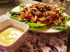 kyllingsalat med marinert sjampinjong Chili, Tacos, Soup, Mexican, Ethnic Recipes, Chile, Soups, Chilis, Mexicans
