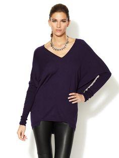 V-Neck Silk Cashmere Sweater by L.A.M.B. on Gilt.com