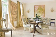 Eclectic Neutral Dining Room