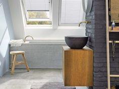 Baño con ventanas Velux