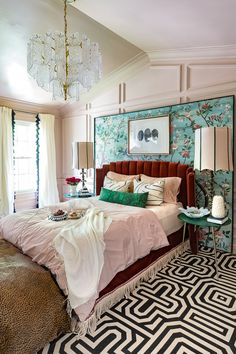 Jeweled Interiors spring 2019 One Room Challenge ORC big reveal Door Handle love the color setting plaster Darrow and ball and green Art Deco Bedroom, Room Ideas Bedroom, Home Bedroom, Bedroom Decor, Bed Room, Bedroom Designs, Bedroom Furniture, Master Bedrooms, Bedroom Storage