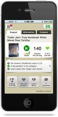FOODUCATE. Amazing FREE app that let's you scan a product's bar code to see the un-biased nutritional highlights. Really incredible- I tested!