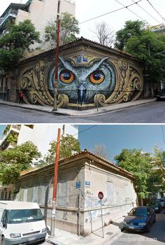 15 Incredible Before & After Street Art Transformations That Are Simply Stunning | facebook