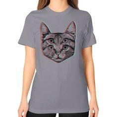 3D Cat Unisex T-Shirt (on woman)