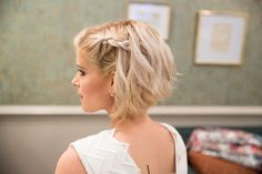 HOW-TO: Kate Mara's Textured, Braided Bob Using Matrix Products More