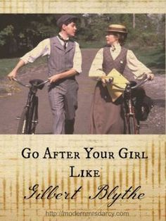Go after your girl like Gilbert Blythe (part of the Life Lessons from Green Gables series). Countless women count Gilbert Blythe as the first man they fell in love with, and for good reason. A wonderful post for nostalgia's sake, but also worth paying attention to for anyone raising sons and daughters.