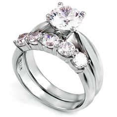 Sterling Silver wedding set CZ Round cut Engagement Ring size 5-9 Bridal New #BladesandBlingbytheMillerFamily #bling #sterlingsilver #CZ #engagementring #bridal #wedding #bladesandbling #freegiftbox #freeshipping #jewelry #rings #beautiful #fashion #love #swag #foreverlove #weheartit #wecute #jewelryforwomen #weddingplanning #Solitaire #silver #silverjewelry #familybusiness #engagement #affordablewedding #glam #weddingring #weddingband #weddingringset #weddingset #ring