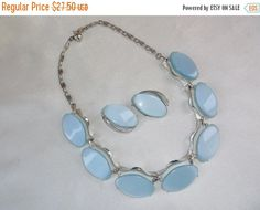 SALE Vintage Retro Ice Blue Moonglow Thermoset by MemawsTopDrawer