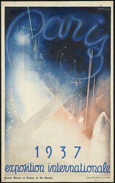 vintage travel poster: Paris, 1937