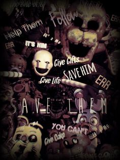 FNaF Character Collage