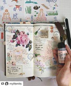 Really loving the soft Rose tinted pages. How fitting ! (Vintage Style Botanical Ephemera in action) Click the link in profile if you'd like a set. #Repost @mylifemits (@get_repost) ・・・ Thank you for all the lovely quote suggestions! I've been really enjoying the tattered rose distress stain lately (thank you @filofaxfinds for getting it for me). . . . . #travelersnote #oliveeditionTn #トラベラーズノート #手帳 #ノート #stationery #midori #midoritravelersnotebook #travelersnotebook #journal #diary #pla...