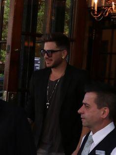 Adam Lambert Dines At A Restaurant In Montreal