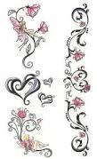 heart and little hearts tattoo behind ear ile ilgili görsel sonucu