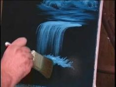 How To Paint Waterfall With Acrylic on Canvas Complete Painting Lesson Art Class… Acrylic Painting Techniques, Painting Videos, Art Techniques, Painting & Drawing, Painting Clouds, Waterfall Paintings, Learn To Paint, Acrylic Art, Painting Inspiration