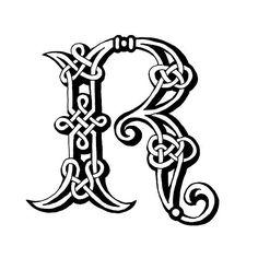 Celta letra R - ilustración de arte vectorial