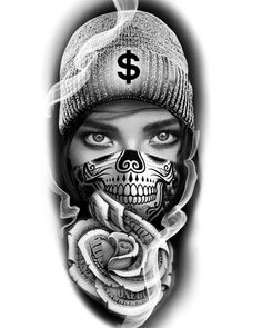 Chicano Tattoos Gangsters, Chicano Tattoos Sleeve, Gangster Tattoos, Big Cat Tattoo, Chicanas Tattoo, Dark Tattoo, Cool Forearm Tattoos, Body Art Tattoos, Hand Tattoos