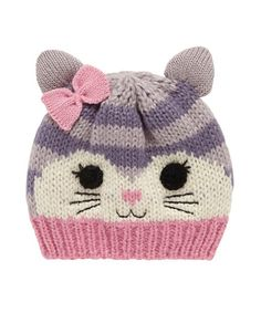 Cat Beanie Hat - hats & mitts - Mothercare