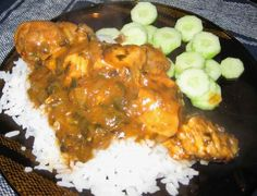 Trinidadian Stewed Chicken..  just can't make it like my mother in law can..  i needed a base recipe to go off of, and i thinl this is it!  :)