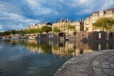 Quais de l'Erdre, Nantes (Loire-Atlantique, Pays-de-la-Loire, FRANCE)