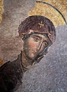 Hahnemuhle PHOTO RAG Fine Art Paper (other products available) - Hagia Sophia Deesis mosaic - Virgin Mary - Image supplied by Universal Images Group (UIG) - Fine Art Print on Paper made in the UK Byzantine Icons, Byzantine Art, Aya Sophia, Mosaic Portrait, Images Of Mary, Roman Art, Orthodox Icons, Art Graphique, Mother Mary
