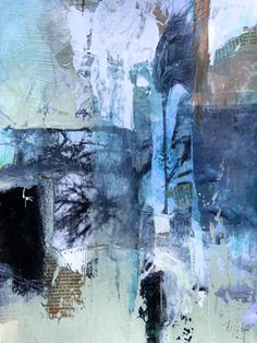 Landscape Liberation-abstract by Joan Fullerton Mixed Media ~ 22 x 15  Landscape Liberation: No gravity, no assumptions, only the sense of love taking us higher. Break the old patterns and see more dimensions of this odd thing we call a life!
