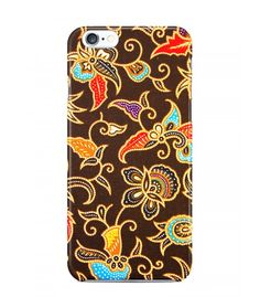 Amazing Vines Flowers with Brown Background Batik 3D Iphone Case for Iphone 3G/4/4g/4s/5/5s/6/6s/6s Plus - BTK0061 - FavCases