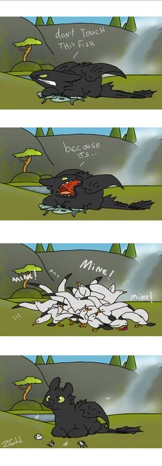 Poor Toothless by chibignoufs ...  How to train your dragon, toothless, night fury, dragon