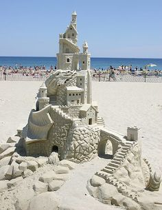 This highly detailed sandcastle happened in Hampton Beach, which is just a short drive south of Portsmouth, NH.