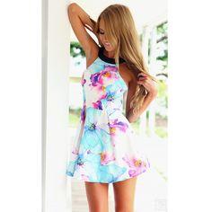 2015 Fashion Women Sumeer Style Print Dress